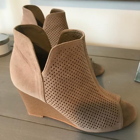 DSW Shoes | Tj Peep Toe Wedge Booties